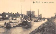 Belgium Diksmuide Dixmude De hooge brug en den Ijser Boats, Horse