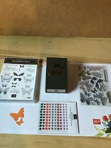 Stampin Up Butterfly gala and butterfly duet punch. Used. Plus bonus.