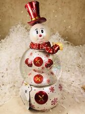 Radko Snowswirls Snow Globe Snowman 2011565 Retired 2008 Nib Ornament Musical