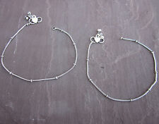 Lot set of 4 pairs Anklet Bracelet Ankle Foot Jewelry Kuchi Barefoot Sandals New