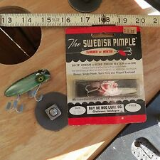 New listing Vintage Swedish Pimple fishing lure & South Bend fishing lure (lot#9870)