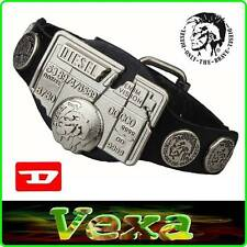New DIESEL BRAVE Genuine Leather Bracelet Black Bangle Wristband Mens Surf BD31