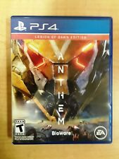 PLAYSTATION PS4 ANTHEM BIOWARE EA W/ LEGION OF DAWN CASE NO CODES PREOWNED