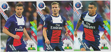 PANINI FOOTBALL 2014 2015 ADRENALYN CARDS LOT DE 3 CARDS GAME PARIS PSG