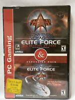 New Star Trek Voyager Elite Force & Expansion Pack 2001 CD-ROM PC Video Game