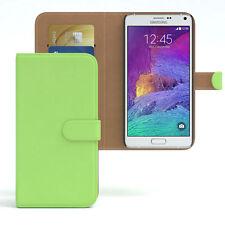 Tasche für Samsung Galaxy Note 4 Case Wallet Schutz Hülle Cover Grün