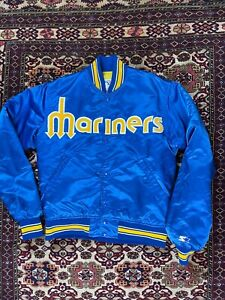 Vtg Seattle Mariners Starter Satin Jacket Size S Made In USA