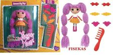 Mini Lalaloopsy Loopy Hair Peanut Big Top 3 Inch Doll Yarn 6 Hair Clips Comb NEW
