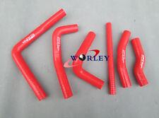 For Honda CR250R CR250 2000 2001 00 01 2-stroke silicone radiator hose RED