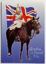 London a Capital City Life Guard Whitehall Postcard (P271)