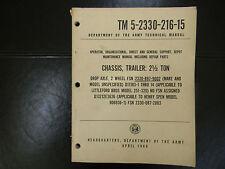1969 CHASSIS,TRAILER: 2.5 TON TM 5-2330-216-15 Tech Man FSN 2330-897-9002 #250