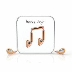 Happy Plugs Earbud Earphones Headphones With Mic & Remote - Deluxe Rose Gold