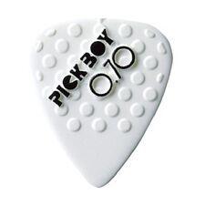 6 (SIX) PICKBOY Ceramic Guitar Picks White 0.70mm Grip soft Plectrum