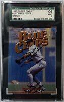 1997 Topps Finest #15 Bronze Derek Jeter SGC 96 Mint 9 New York Yankees