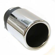 Chrome Exhaust Muffler Trim Pipe Tail Tip For Opel Vauxhall Corsa Astra H Vectra