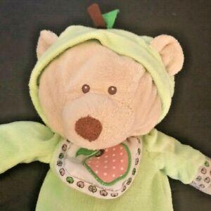 "Baby Ganz Apple of My Eye Teddy Bear Plush Stuffed Animal Beanbag 12"" Green Soft"