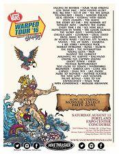 Vans Warped Tour 2016 Portland Concert Poster: Falling In Reverse,Less Than Jake