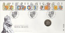 1998 ROYAL BEASTS £1 UNCIRCULATED COIN  COVER