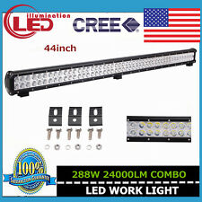 44INCH 288W LED CREE WORK LIGHT BAR FLOOD SPOT OFF ROAD SUV 4X4 SEKIL 180W 126W