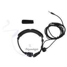 1Pin 3.5mm Finger PTT Earpiece Covert Air Tube Headset Throat Mic for Cellpphone