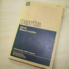 Cat Caterpillar G916 Front End Wheel Loader Parts Manual Book 5gd Series List