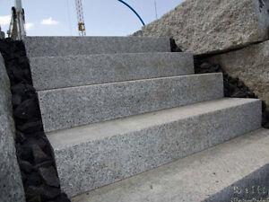 Granit Blockstufen, Granitstufen 100 x 35 x 15cm aus Schlesien - jetzt ansehen!