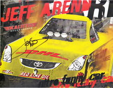 2011 Jeff Arend signed DHL Toyota Camry Funny Car NHRA postcard