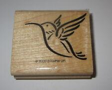 Hummingbird Rubber Stamp Stampin' Up! Retired Wood Mounted Flying Long Beak
