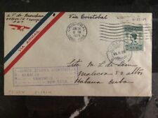 1929 Curacao First FLight airmail cover FFC to New York USA Via Canal Zone