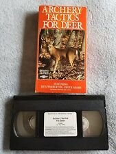 Archery Tactics for Deer - VHS Tape - Deer Hunting - Tips -Tree Stands-Equipment