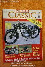 Motorrad Classic 4/96 DKW Norton Suzuki T500 Puch