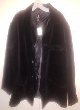 INC. AUTHENTIC women's black velvet jacket Size L