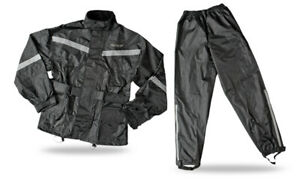 Fly Racing Two-Piece Motorcycle Rain Suit (Black) 5XL (5X-Large)