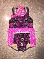 Cheekz Dancewear Two Piece Outfit Size Child Small (4-6)