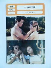 CARTE FICHE CINEMA 1971 LE SAUVEUR Muriel Catala Horst Buchholz Danièle Ajoret H