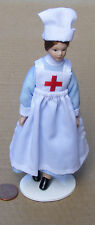 1:12 Victorian Dressed Nurse Dolls House Miniature Kitchen People Accessory 149