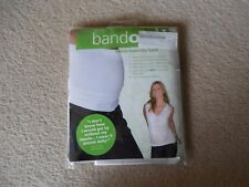 Fertile Mind, White Belly Band BANDO, Luxury Maternity Band, Size S-M, UK 6-10,