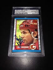 Doug Gilmour Signed 1989-90 O-Pee-Chee OPC Card Flames PSA Slabbed #83704388