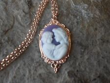MOTHER AND CHILD CAMEO ROSE GOLD TONE COPPER NECKLACE - MOTHER'S DAY -QUALITY, P