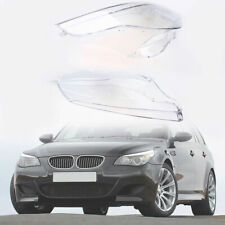 Headlight Headlamp Lens Covers Trim Replacement Clear for BMW 5-Series E60 E61