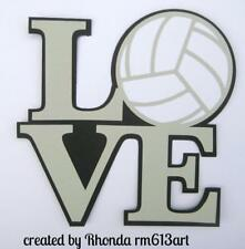 LOVE VOLLEYBALL TITLE  sport scrapbook premade paper piecing by Rhonda