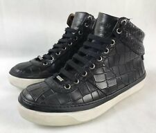 663e4938695 Jimmy Choo Belgravia Black Crocodile High Top Leather Sneakers Size US 6 EU  39
