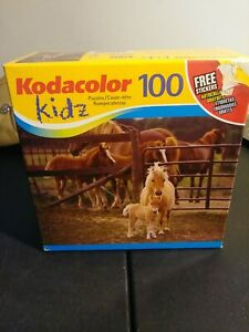 Kodacolor Kids 100 Piece 🐎 Puzzle 16x11 Frame 2006 Mega Brands America New