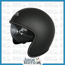 Casco VINTAGE JET Moto Scooter BANDIT RETRO con Visiera DF2700 DIEFFE Nero Opaco
