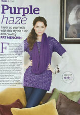 KNITTING PATTERN Ladies Lace Patterned Tunic & Cowl Scarf Jumper Sirdar PATTERN