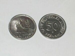 Bank Deutscher Länder 50 Pfennig 1950 G Fehlprägung