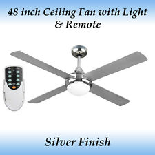 Revolve 48 inch Ceiling fan in Silver Finish with Light and Remote