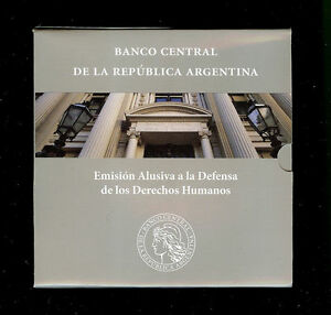 ARGENTINA BLISTER COIN 2 Pesos, KM161 UNC 2006 - Defense of Human Rights