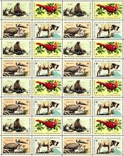 1972 - WILDLIFE CONSERVATION - #1464-7 Mint -MNH- Sheet of 32 Postage Stamps