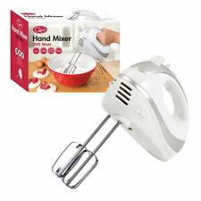 Quest 5 Speed White Hand Held Food Electric Whisk Blender Beater Mixer Turbo